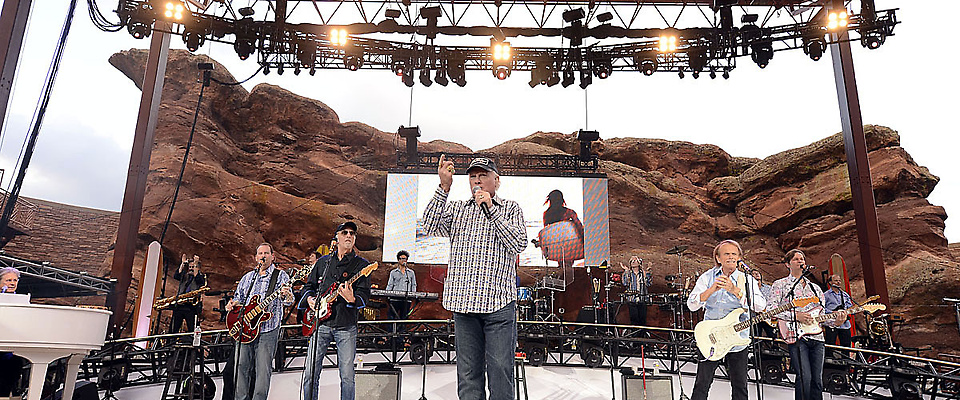 Beach Boys celebrate their 50th anniversary tour with a stop at Red Rocks Amphitheatre Monday, July 9, 2012 to a sold out crowd.  John Leyba, The Denver Post