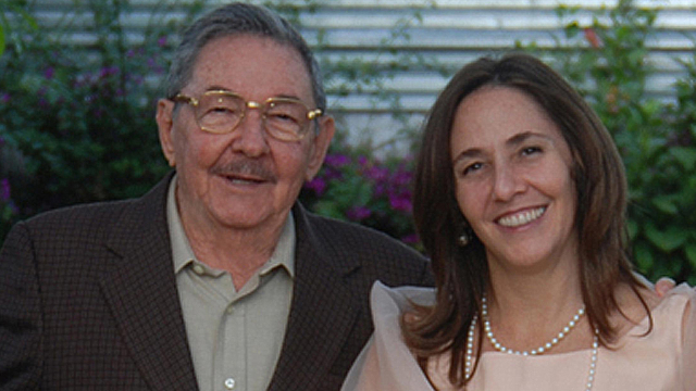 Raul Castro with daughter Mariela