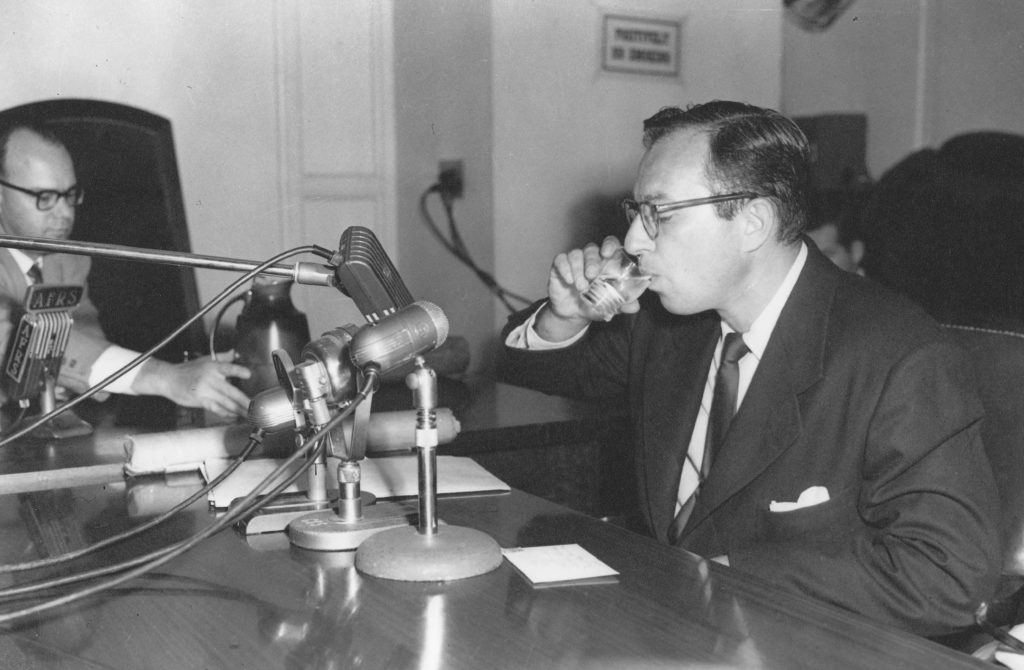 Foreman testifying before HUAC, 1951